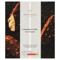 Waitrose Seriously 3 Colombian coffee ice creams
