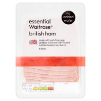 essential Waitrose British ham, 8 slices