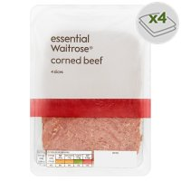essential Waitrose corned beef, 4 slices