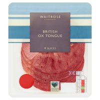 Waitrose British ox tongue, 4 slices