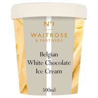 Waitrose 1 Belgian white chocolate ice cream