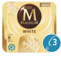 Magnum white 3 pack ice cream