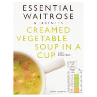 Waitrose creamed vegetable soup in a cup with croutons, 4 servings