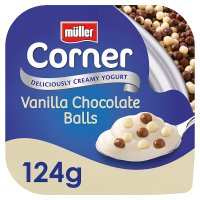 Müller Crunch Corner with vanilla chocolate balls