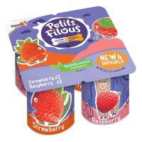 Petits Filous strawberry & raspberry fromage frais