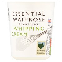 essential Waitrose whipping cream