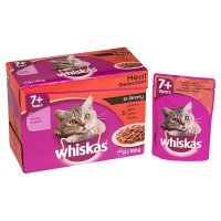Whiskas in gravy pouch cat food, senior cats