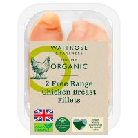 Waitrose Organic 2 Free Range British chicken breast fillets