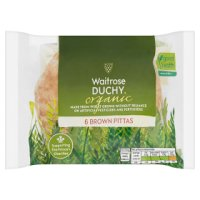 Waitrose Duchy Organic brown pitta bread