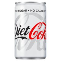 Diet Coke mixer single can