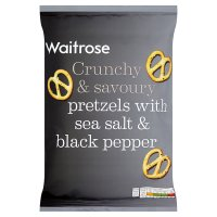 Waitrose sea salt & cracked black pepper pretzels