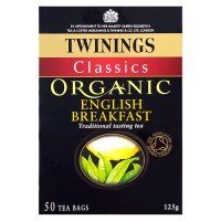 Twinings organic English breakfast 50 tea bags