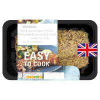Waitrose Easy To Cook 2 Pork escalopes with a Gruyere & mustard crust