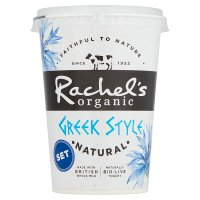 Rachel's organic Greek style natural set yogurt
