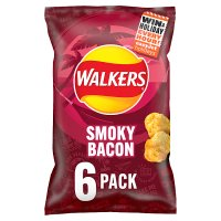 Walkers smoky bacon multipack crisps