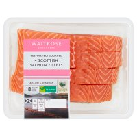 Waitrose 4 boneless Scottish salmon fillets