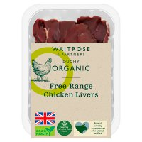 Waitrose Duchy Organic Free Range British fresh chicken livers