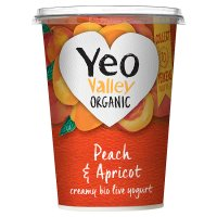Yeo Valley organic apricot & peach yogurt