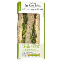 Waitrose LoveLife Calorie Controlled egg mayo salad sandwich