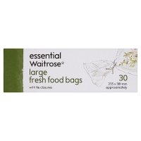 essential Waitrose large fresh food bags - roll of 30