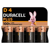 Duracell Plus Power D4 Batteries Alkaline