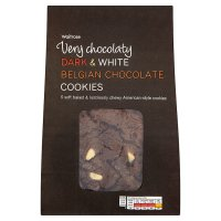 Waitrose white & plain chocolate cookies