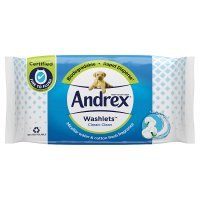 Andrex Classic Clean Washlets Moist Toilet Tissue Wipes