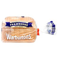 Warburtons soft white bread sliced farmhouse