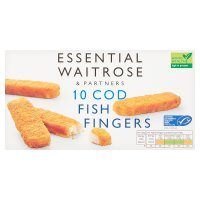 essential Waitrose 10 cod fillet fish fingers