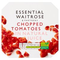 essential Waitrose tinned chopped tomatoes in natural juice 4 pack