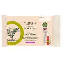 Waitrose Duchy Organic farmhouse Cheddar cheese, strength 5