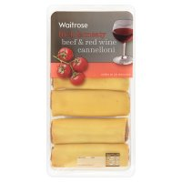 Waitrose beef & red wine fresh pasta cannelloni