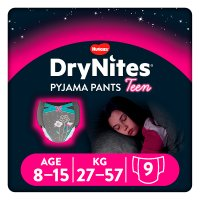 Drynites Pyjama Pants,Girl age 8-15 yrs, 27-57kg