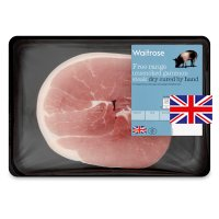 Waitrose 1 British Free Range unsmoked dry cured bacon gammon steak