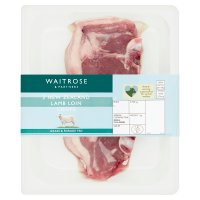 Waitrose 2 hand cut New Zealand lamb loin chops