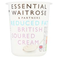 essential Waitrose half fat soured cream