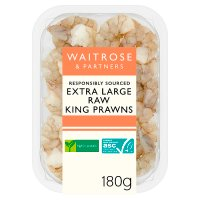 Waitrose raw jumbo king prawns