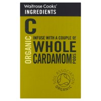Waitrose Cooks' Ingredients organic whole cardamom