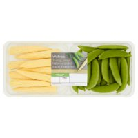 Waitrose baby corn & sugar snap peas