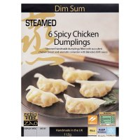 Zao dim sum 6 spicy chicken dumplings
