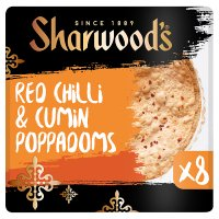 Sharwood's red chilli & cumin poppadoms