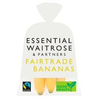 essential Waitrose Fairtrade 6 Bananas in a bag