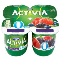 Activia fat free forest fruits yogurts