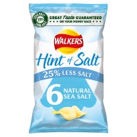 Walkers Lights simply salted multipack crisps