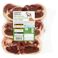 essential Waitrose New Zealand frozen lamb loin chops