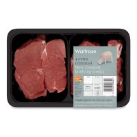 Waitrose 4 extra trimmed New Zealand lamb leg steaks