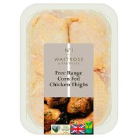 Waitrose 4 Free Range British chicken thighs