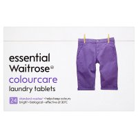 essential Waitrose colourcare tablets, 24 washes