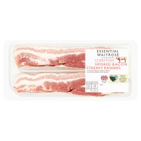 essential Waitrose 12 British Outdoor Bred smoked streaky bacon rashers