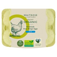 Waitrose Duchy Organic large British free range eggs